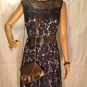 Eliza J Dress Neiman Marcus Purse Complete Outfit